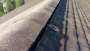 ridge vent on top of roof