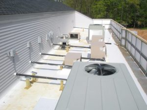 heating and air units on roof