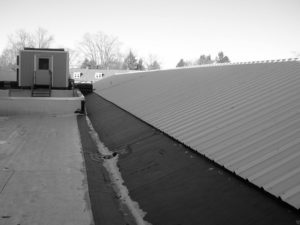 seams on a roof