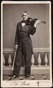 Vintage picture of Ole Bull holding a violin and bow