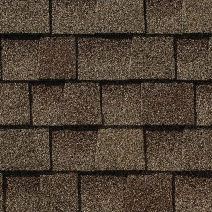 Architectural shingles laid out next to each other in rows