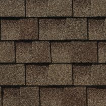 close-up of architectural shingles