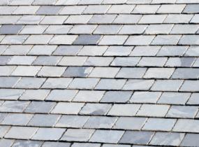 gray slate shingles on roof