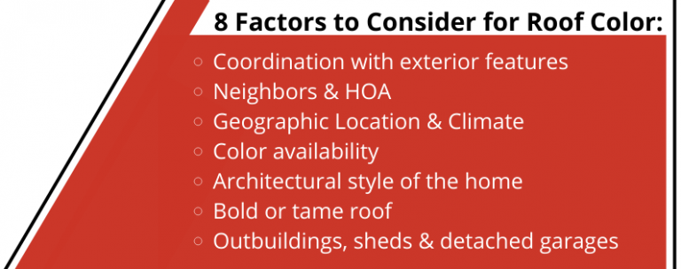 8 factors to consider for roof color