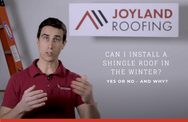 Can I install a shingle roof in the winter? Yes or no- and why?