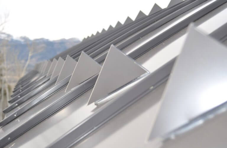 metal roof with snow guards