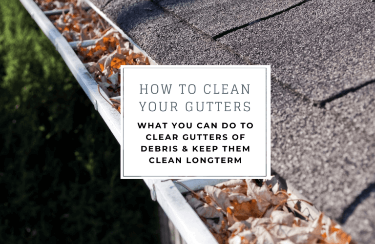 How to clean your gutters- what you can do to clean gutters of debris and keep them clean longterm