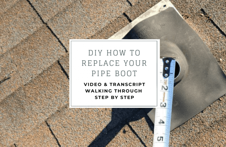 DIY how to replace your pipe boot