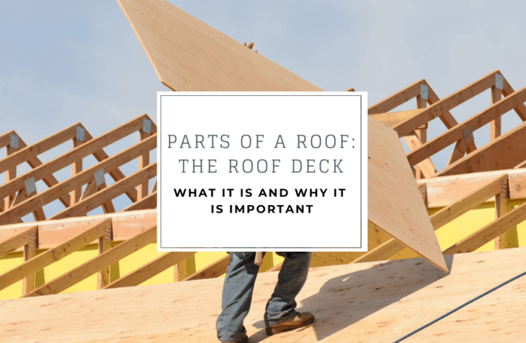 Parts of a roof: the roof deck