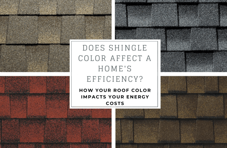 Does Shingle color affect a home's effeciency?