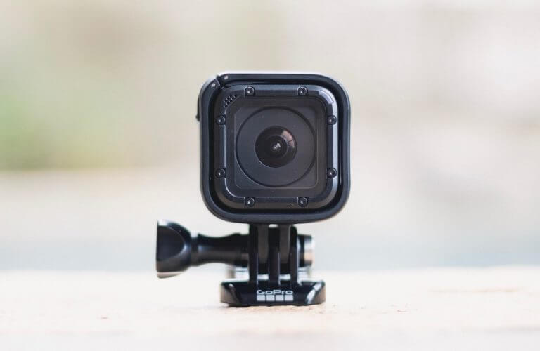 GoPro on top of a flat surface