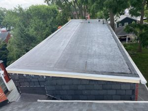 EPDM rubber roof installed by joyland roofing in lancaster pa