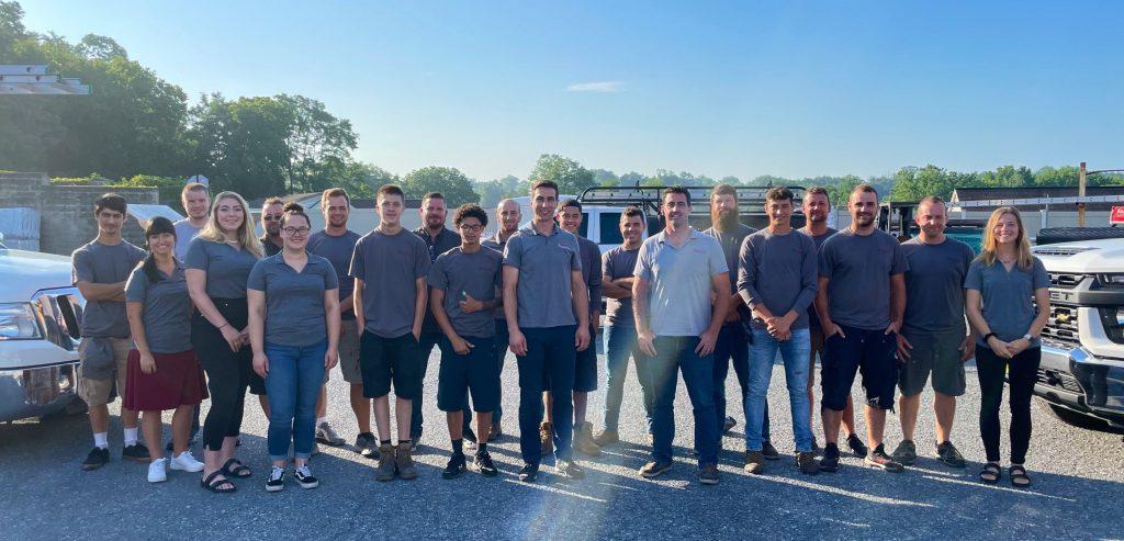 joyland roofing team photo july 2021