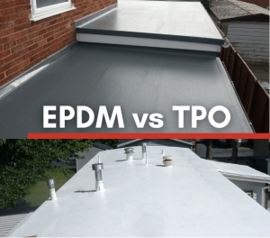 EPDM roof and TPO roof installed by joyland roofing